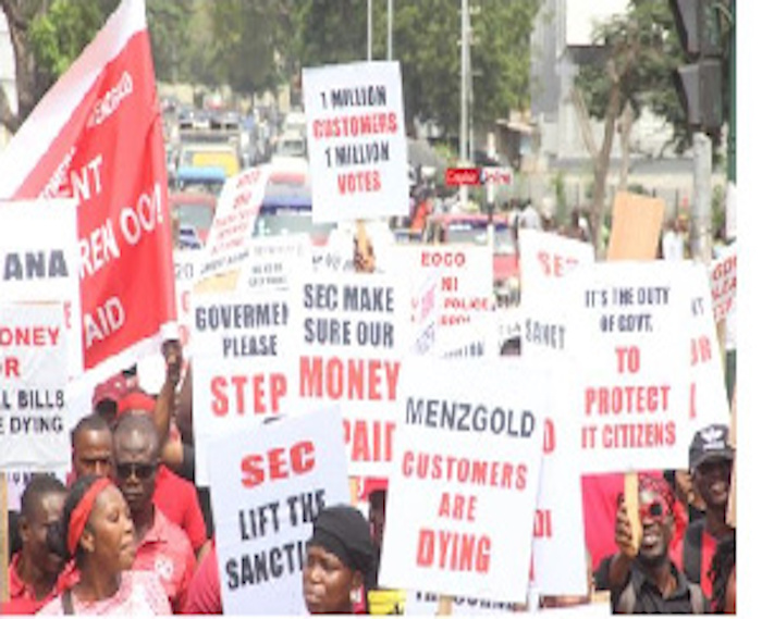Menzgold customers hit the streets to demand their locked up cash several times this year