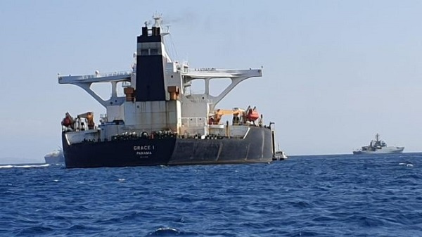 The oil tanker is suspected of carrying crude oil to Syria