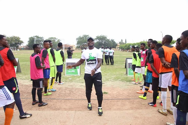 Appiah is leading Betway Talent Search 2019 coaching team