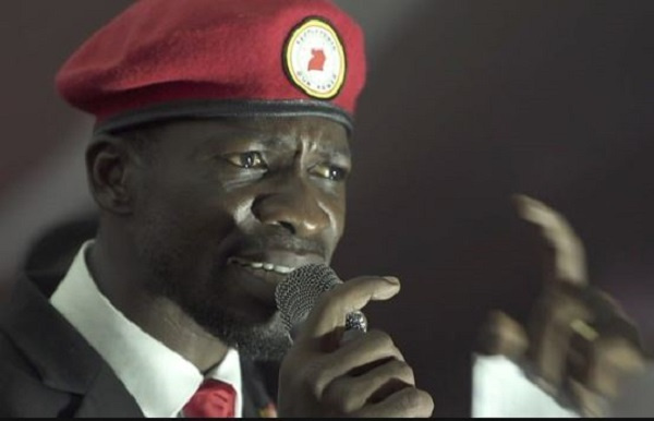 Ugandan opposition MP Robert Kyagulanyi, better known as Bobi Wine