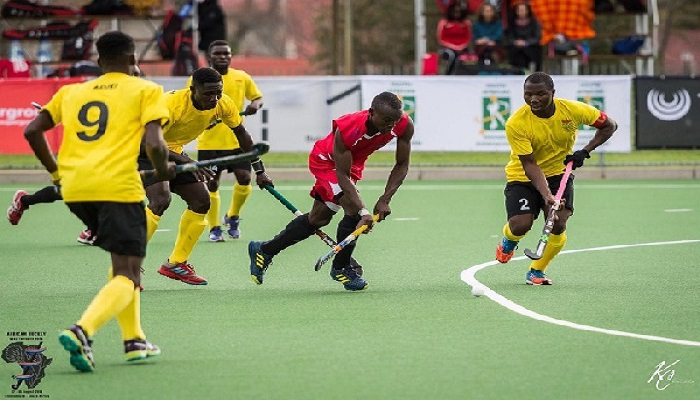 Flashback: Skipper Salya Nsalbini (right) controls the ball during their Opening match against Kenya