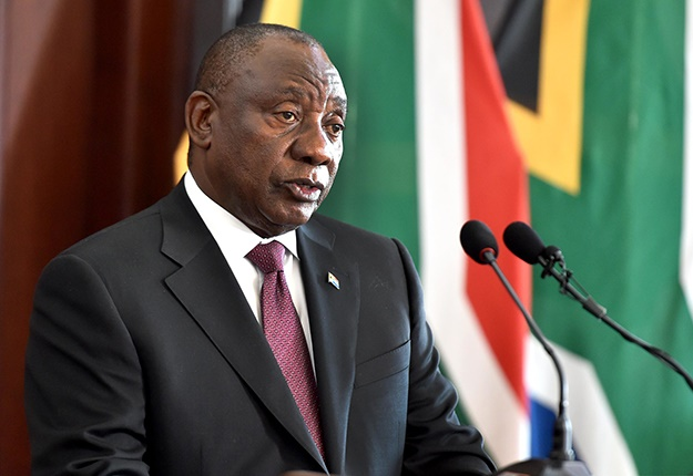 HIs Excellency President Cyril Ramaphosa receives letters of credence /commission and letters of recall of of predecessors from heads of missions designate at Sfako Makgatho Presidential Guest House, Pretoria. 15/05/2019 Kopano Tlape GCIS