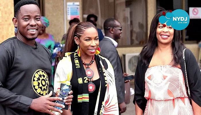 Adrienne-Joi Johnson and Michelle Rice are in Ghana