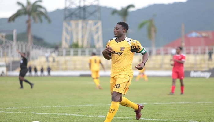 Shafiu scored a hat-trick against Akonangui