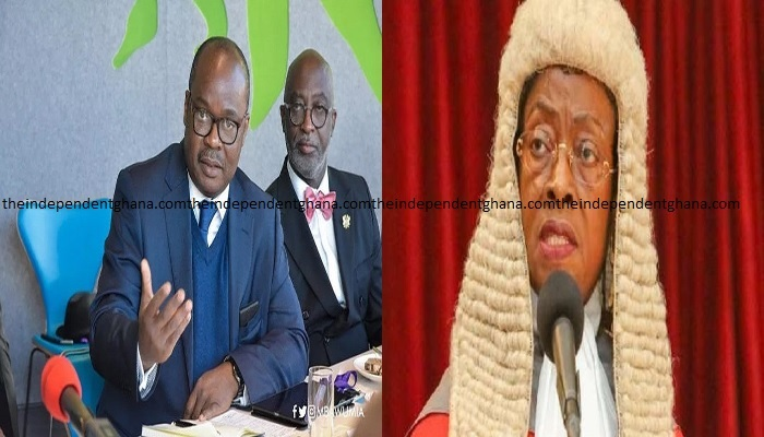 Governor of Bank of Ghana, Ernest Addison and Chief Justice Sophia Akuffo