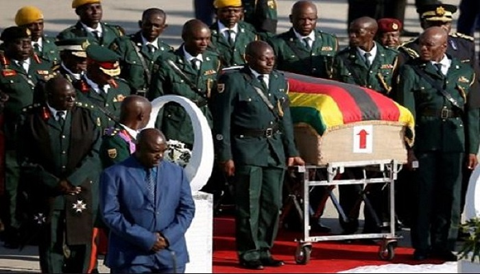 Robert Mugabe's body arrived home in Zimbabwe on Wednesday ahead of a state funeral