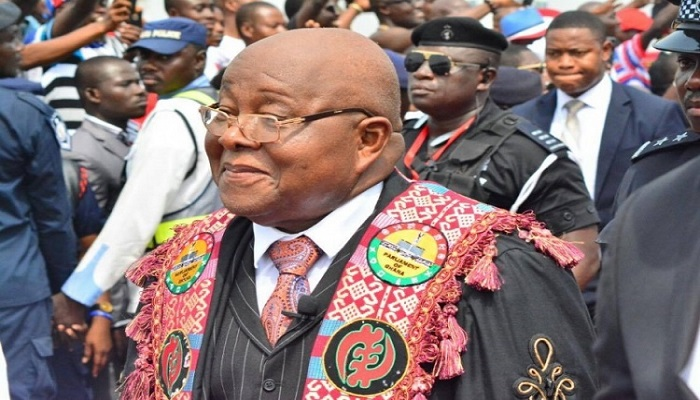 Speaker of Parliament, Prof. Aaron Mike Oquaye.