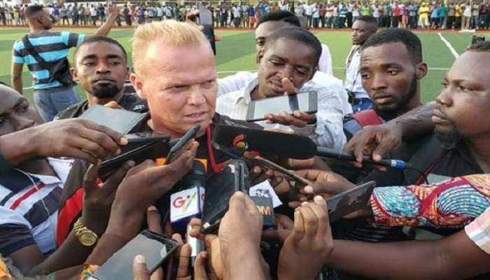 Head coach of Asante Kotoko, Kjetil Zacheriassen