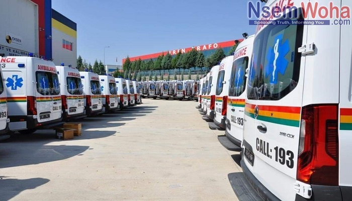 The ambulances arrived in the country on Tuesday