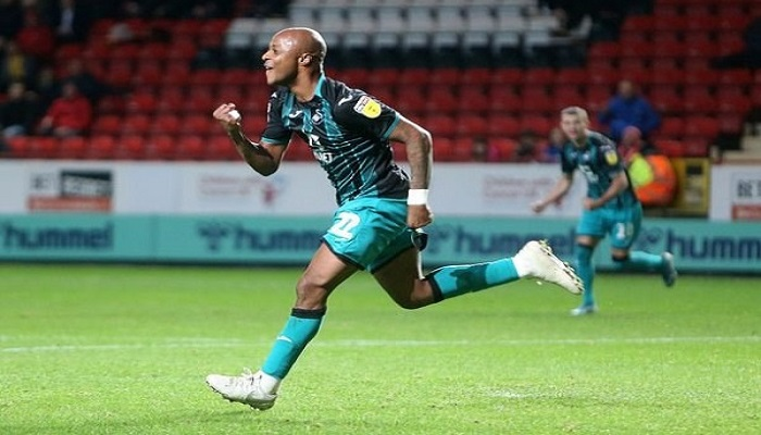 Swansea City attacker Andre Ayew