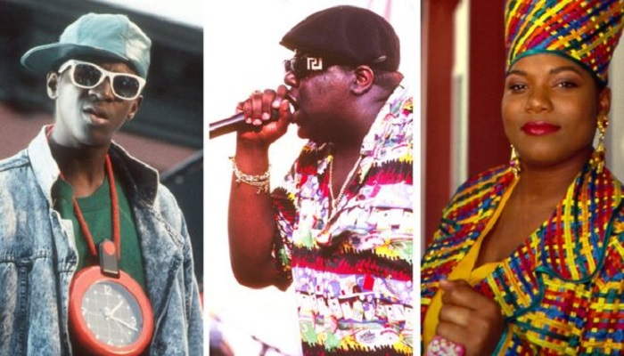 Public Enemy, The Notorious BIG and Queen Latifah all feature in the poll