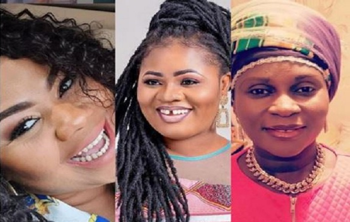 Beautiful Ghanaian gospel singers Gifty Adorye, Obaapa Christy and Esther Smith