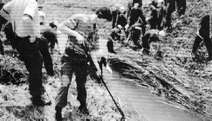 A 1993 file photo of a rape and murder crime scene in in Hwaseong, south of Seoul