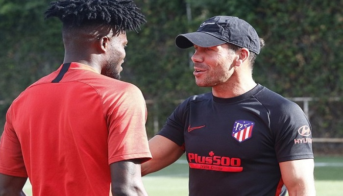 Partey and his coach Diego Simeone