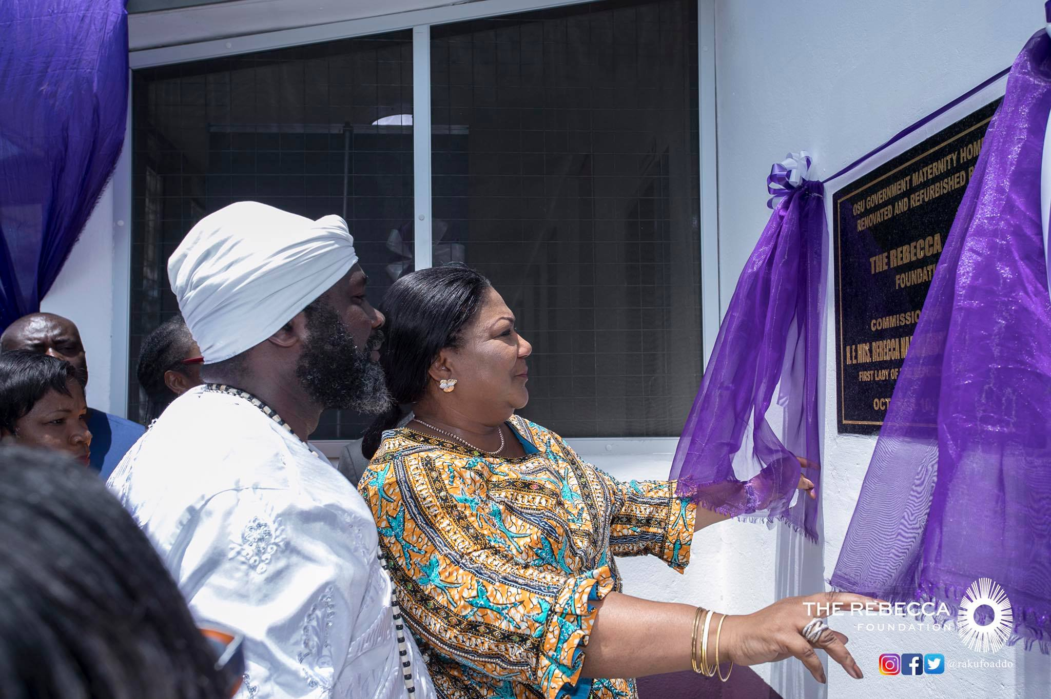 Mrs Rebecca Akufo-Addo commissioning of the newly renovated Osu Government Maternity Home