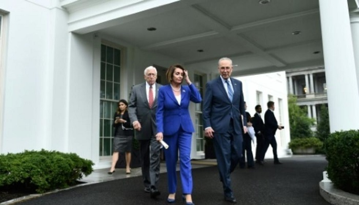 Nancy Pelosi had a face-to-face encounter with President Trump
