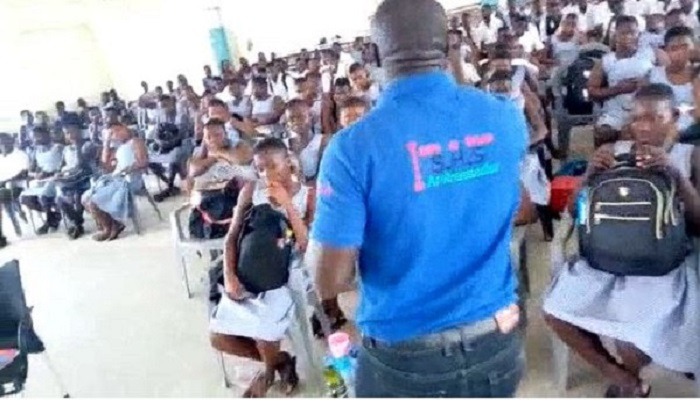 Free SHS Ambassador was seen in a video campaigning for the government