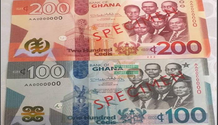 The new cedi notes