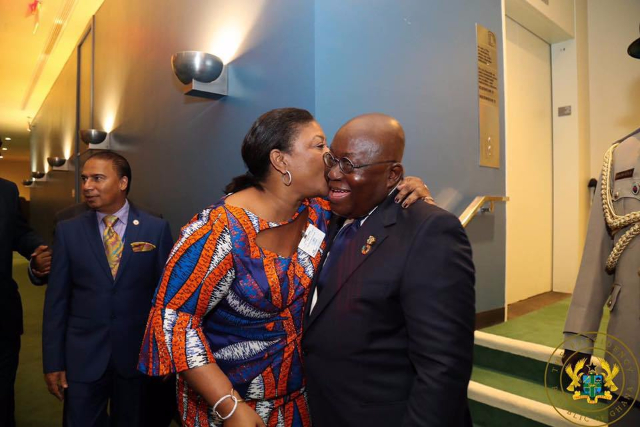 President Nana Addo Dankwa Akufo-Addo and his wife, Rebecca Akufo-Addo