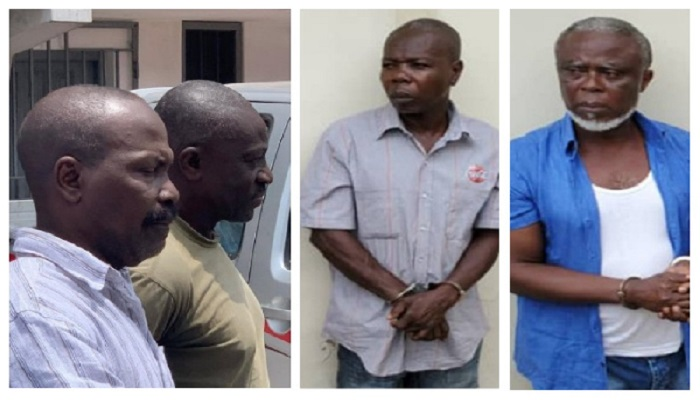 Four of the alleged coup plotters