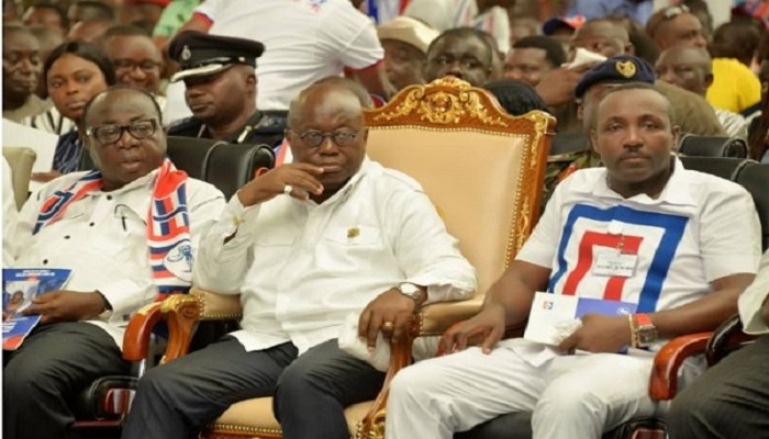 President Akufo-Addo with NPP executives