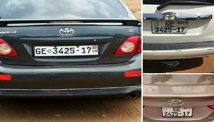 Images of different cars with same number plates are making rounds on social media