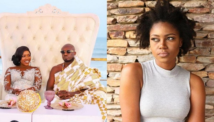 Blogger Nkonkonsa with wife Victoria Lebene (L)  and Yvonne Nelson