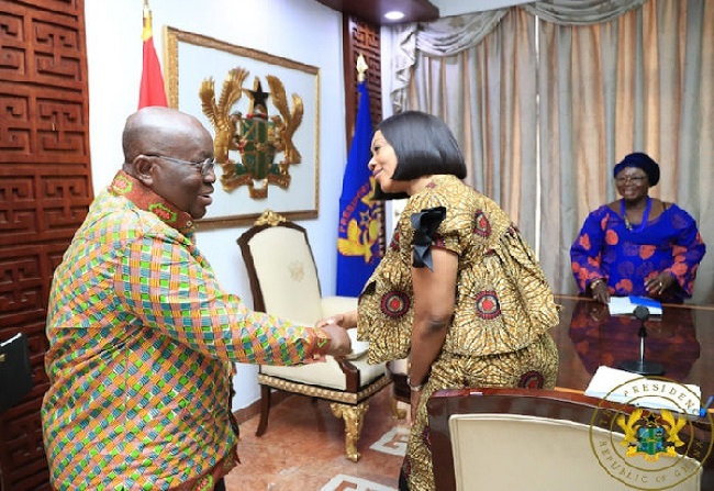President Akufo-Addo and EC Chair Jean Mensa