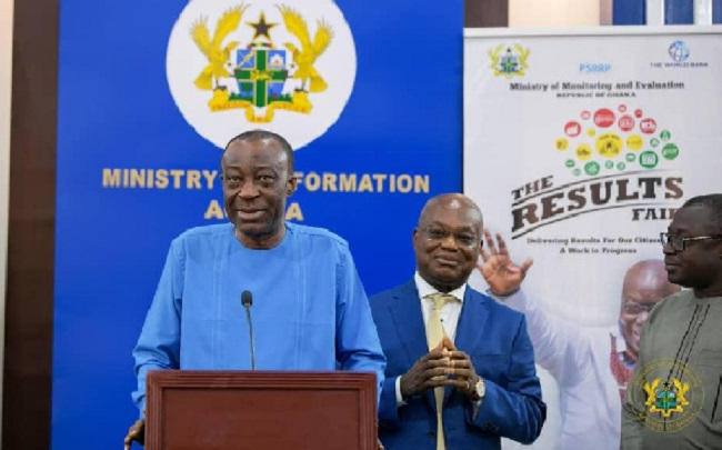 Minister for Monitoring and Evaluation, Dr Akoto Osei