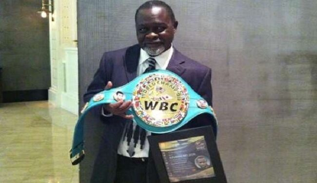 Boxing Hall of famer Azumah Nelson