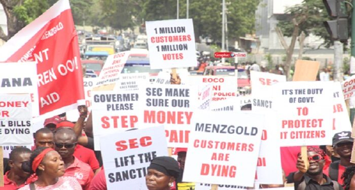 Aggrieved Menzgold customers