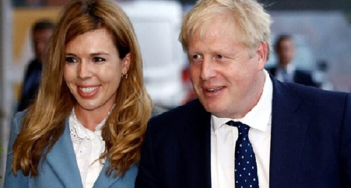 Mr Johnson took a holiday on the island of Mustique with partner Carrie Symonds after Christmas
