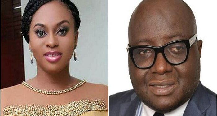 Member of Parliament, Sarah Adjoa Sarfo and the High Commissioner to India Mike Oquaye Jnr.
