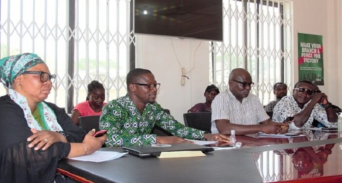 The Upper East Region leadership of the NDC at the press conference