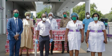 FanMilk Ghana Limited donated 15,600 bottles of drinking yoghurt to the hospital