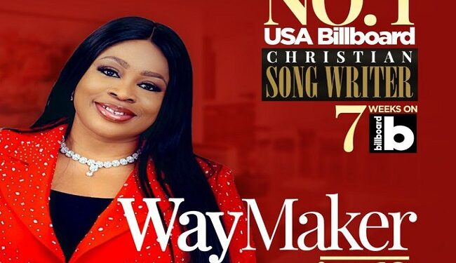 Sinach becomes first African to top Billboard's 'Christian Songwriters' Chart
