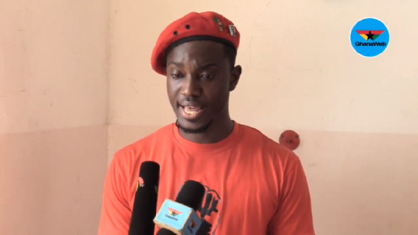 Leader of the Economic Fighters League, Ernesto Yeboah