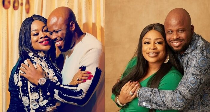 Sinach and her husband, Joe