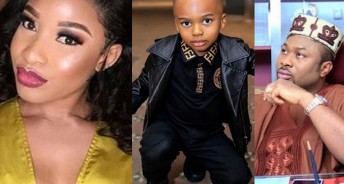 Tonto Dikeh, Ex-husband Churchill and their son, King Andre