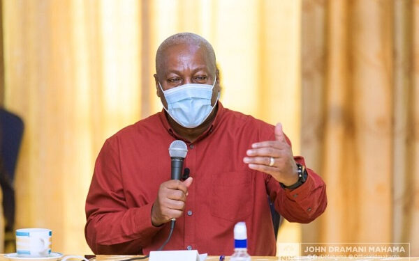 Flagbearer for the National Democratic Congress, John Mahama