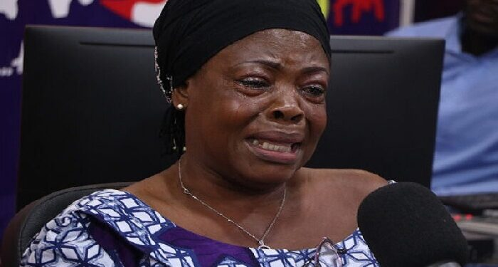 Katherine Ossom in tears as she narrates her experience