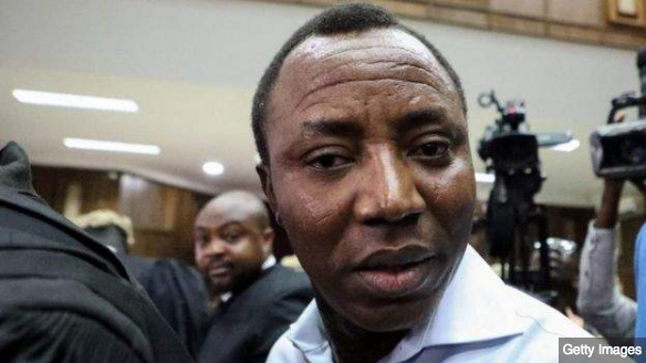 The protesters' leader Omoyele Sowore leader was banned from attending the demonstration