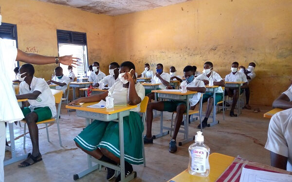 Students of Vitting SHS writing their WASSCE paper