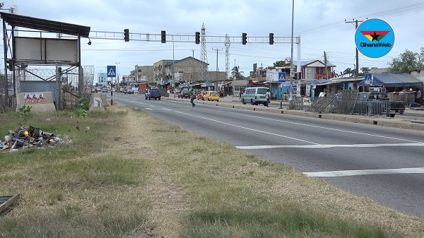 The Awoshie-Mangoase traffic lights have not been functioning for a while
