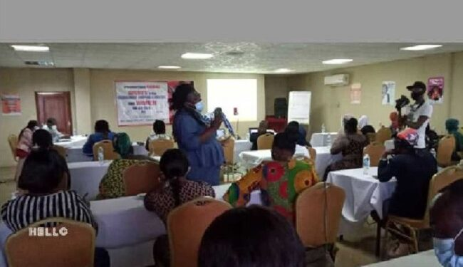 The women were trained to build their capacities to improve their economic status and livelihoods