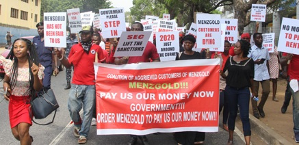 Aggrieved members of Menzgold have demonstrated several times for their locked up funds