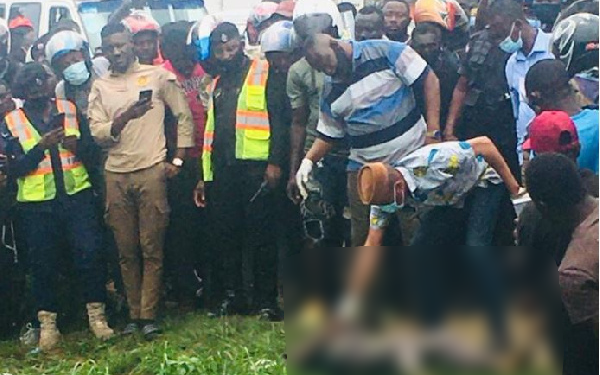 The body of the unidentified woman was found by passers-by who raised an alarm