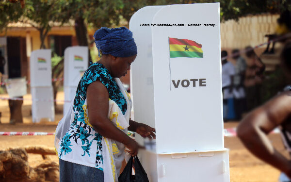 File Photo: A voter voting in an election