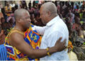 Nana Akwesi Agyemang IX, Paramount Chief of Lower Dixcove and John Mahama
