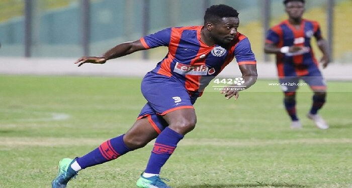 Asamoah Gyan made his debut for Legon Cities on Friday night